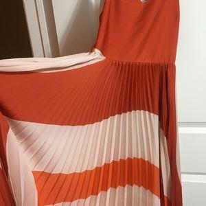 1338070f954 Mango Dresses - Mango Pleated Bicolor Dress
